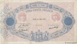 500 Francs BLEU ET ROSE FRANCE  1927 F.30.30 TB+