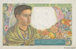 5 Francs BERGER FRANCE  1943 F.05.03 VF