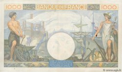 1000 Francs COMMERCE ET INDUSTRIE FRANCE  1940 F.39.03 pr.TTB