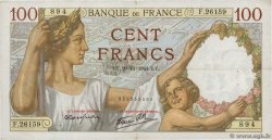 100 Francs SULLY FRANCE  1941 F.26.61 TB+