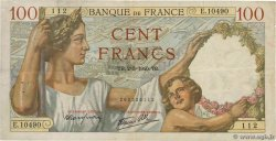 100 Francs SULLY FRANCE  1940 F.26.28 TB