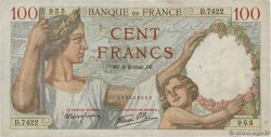 100 Francs SULLY FRANCE  1940 F.26.22 TB