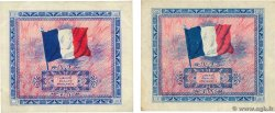 2 Francs DRAPEAU Lot FRANCE  1944 VF.16.01 et VF.16.02 TTB