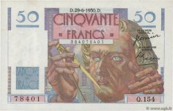 50 Francs LE VERRIER FRANCE  1950 F.20.15 XF+