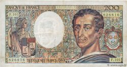 200 Francs MONTESQUIEU alphabet 101  FRANCE  1992 F.70bis.01