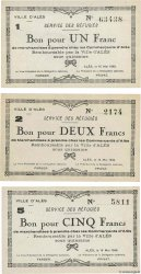 1, 2 et 5 Francs Lot FRANCE regionalism and miscellaneous Alès 1940 BU.01.02, BU.02.01 et BU.03.02