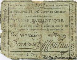 5 Sous FRANCE régionalisme et divers Coucy Le Chateau 1792 Kc.02.047e TB