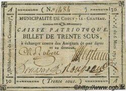 30 Sous FRANCE régionalisme et divers COUCY LE CHATEAU 1791 Kc.02.054 TTB+