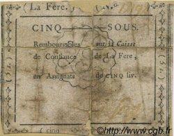 5 Sous FRANCE régionalisme et divers La Fere 1792 Kc.02.061 B