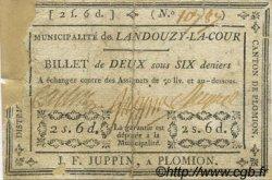 2 Sous 6 Deniers FRANCE régionalisme et divers Landouzy La Cour 1792 Kc.02.087 B+