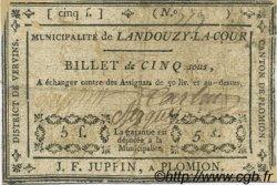 5 Sous FRANCE régionalisme et divers LANDOUZY LA COUR 1792 Kc.02.088 TB
