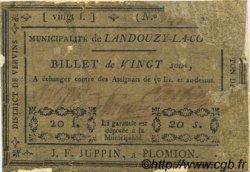 20 Sous FRANCE régionalisme et divers LANDOUZY LA COUR 1792 Kc.02.091 B