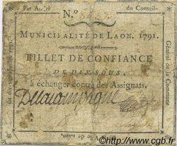 10 Sous FRANCE régionalisme et divers Laon 1791 Kc.02.092 B+