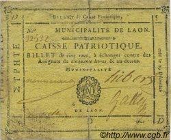 5 Sous FRANCE régionalisme et divers LAON 1791 Kc.02.096 TB+