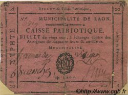 20 Sous FRANCE régionalisme et divers Laon 1791 Kc.02.099 TB+