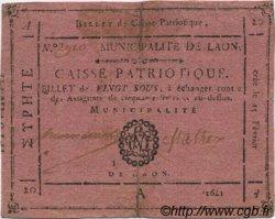 20 Sous FRANCE régionalisme et divers Laon 1792 Kc.02.103 TTB
