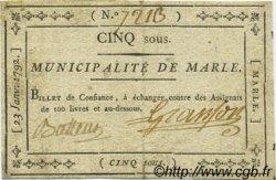 5 Sous FRANCE régionalisme et divers MARLE 1792 Kc.02.115 TTB