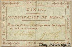 10 Sous FRANCE régionalisme et divers MARLE 1792 Kc.02.116 TTB