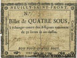4 Sous FRANCE régionalisme et divers NEUILLY SAINT FRONT 1792 Kc.02.146 TTB