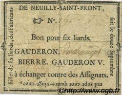 6 Liards FRANCE régionalisme et divers Neuilly Saint Front 1791 Kc.02.149 TB+