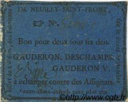 2 Sous 6 Deniers FRANCE régionalisme et divers Neuilly Saint Front 1791 Kc.02.151 TB+