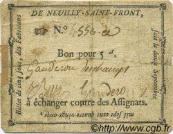 5 Sous FRANCE régionalisme et divers Neuilly Saint Front 1791 Kc.02.152 TB