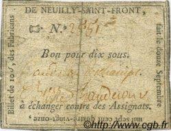 10 Sous FRANCE régionalisme et divers NEUILLY SAINT FRONT 1791 Kc.02.153 TTB