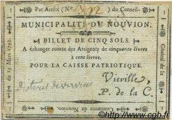 5 Sols FRANCE régionalisme et divers Le Nouvion 1792 Kc.02.159 TTB