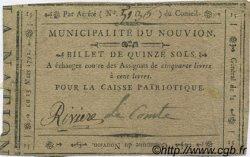 15 Sols FRANCE régionalisme et divers LE NOUVION 1792 Kc.02.161ad TTB