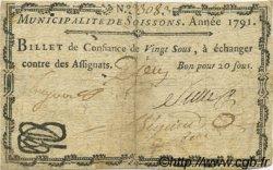 20 Sous FRANCE régionalisme et divers SOISSONS 1791 Kc.02.194 TTB