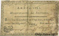 20 Sous FRANCE régionalisme et divers Soissons 1791 Kc.02.194 TB