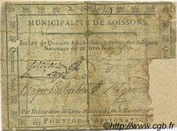 40 Sous FRANCE régionalisme et divers Soissons 1791 Kc.02.197 B+