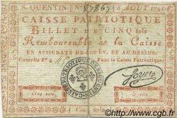 5 Sols FRANCE régionalisme et divers SAINT QUENTIN 1791 Kc.02.201 TTB