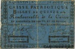 15 Sols FRANCE régionalisme et divers Saint Quentin 1791 Kc.02.203 TB