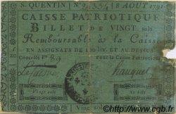 20 sols FRANCE régionalisme et divers SAINT QUENTIN 1791 Kc.02.204 TB