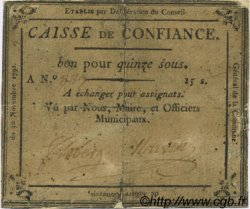 15 Sous FRANCE régionalisme et divers VILLERS COTTERETS 1791 Kc.02.249 TB+