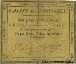 15 Sous FRANCE régionalisme et divers Villers Cotterets 1791 Kc.02.249 TTB