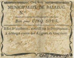5 Sous FRANCE régionalisme et divers BALAZUC 1792 Kc.07.024 TB+