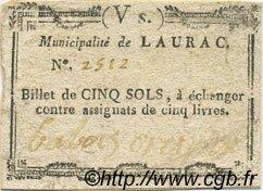 5 Sols FRANCE régionalisme et divers Laurac 1792 Kc.07.082 TTB