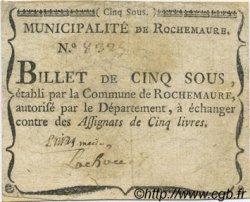 5 Sous FRANCE régionalisme et divers Rochemaure 1792 Kc.07.101 TTB
