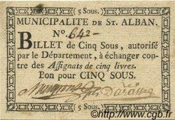 5 Sous FRANCE régionalisme et divers Saint Alban 1792 Kc.07.117 SUP