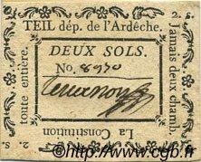 2 Sols FRANCE régionalisme et divers TEIL 1792 Kc.07.160 SUP