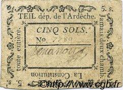 5 Sols FRANCE régionalisme et divers TEIL 1792 Kc.07.161 TTB