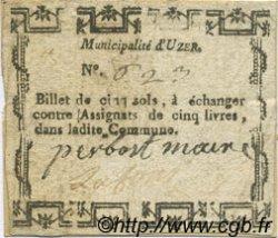 5 Sols FRANCE régionalisme et divers UZER 1792 Kc.07.169 TTB