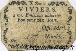 10 Sous FRANCE régionalisme et divers Viviers 1792 Kc.07.201 TTB
