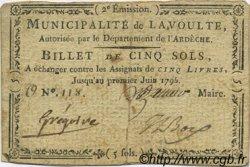 5 Sols FRANCE régionalisme et divers La Voulte 1792 Kc.07.215 TTB