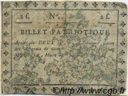 2 Sols FRANCE régionalisme et divers ROCROY 1792 Kc.08.016 B