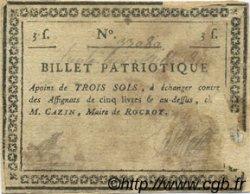 3 Sols FRANCE régionalisme et divers ROCROY 1792 Kc.08.017 B+
