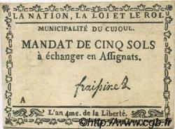 5 Sols FRANCE régionalisme et divers CUJOUL 1792 Kc.12.029 TTB