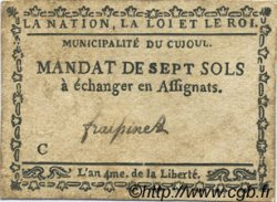 7 Sols FRANCE régionalisme et divers Cujoul 1792 Kc.12.030 TTB